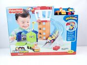 Little People Airport Wheelies Fisher Price Toy Playset Box Wear