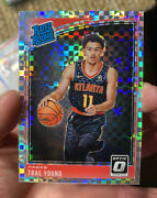 2018-19 Donruss Optic Checkerboard Prizm Silver 198 Trae Young Rc Rookie