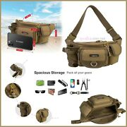 Large Portable Waterproof Outdoor Fishing Waist Pack Bag For Lure Tackle Storage