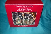 St Nicholas Square Village Collection Lighted Elm Street House A-527