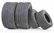 Wanda Set Of 4 New Lawn Mower Turf Tires 15x6-6 Front And 20x10-8 Rear/4pr