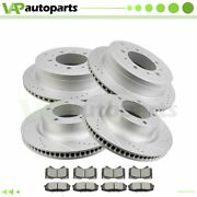 Brake Pads And Rotors Front Rear For Lexus Lx570 Toyota Land Cruiser Drilled