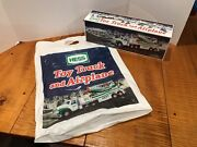 2002 Hess Toy Truck And Airplane Mint Condition Brand New In Box With Bag