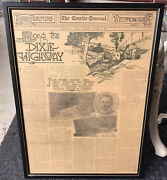 Along The Dixie Highway Courier Journal Louisville Ky Framed Antique Oct 1916
