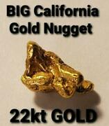 Big California Natural Gold Nugget Gold Rush T.v. Show Placer Gold Miner Direct