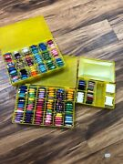 Lot Embroidery Threads Floss With Containers Approx. 200 Colors - Free Shipping