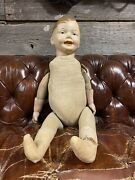 Vintage Antique Hand Painted Composition/straw Child Store Full Mannequin 1912