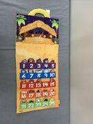 Fisher Price Little People Fabric Nativity Advent Christmas Calendar Complete Fs