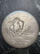 2020 Limited 5 Troy Oz Silver Stamped Bison Bullion Round Specially Edition