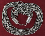 10-strand Sterling Silver Old Style Necklace By Navajo Artist Jan Mariano