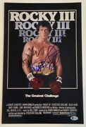 Rocky Iii 3 Cast Signed 11x17 Poster Sylvester Stallone Shire Young Beckett Coa