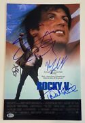Rocky V 5 Cast Signed 11x17 Poster Sylvester Stallone Shire Young X4 Beckett Coa