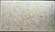 Mother Of Pearl Floral Work Dining Table Top White Marble Restaurant Table Top