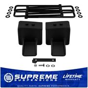 5 Rear Lift Blocks With Built-in Wing Compatible With 2004+ Ford F150 4x2 Truck