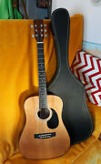 1966-ish Korean-made K428 W/case And Solid Spruce Top Bluegrass Guitar