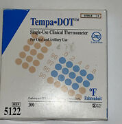 Nos Tempa Dot Single Use Clinical Thermometer Sterile 100 Count 5122