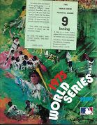 1975 World Series Program Red Sox-reds Fenway Park Edition Beauty