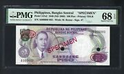 Philippines 100 Piso 1949 Nd1969 P147s2 Specimen Tdlr Uncirculated Grade 68