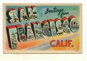 1938 Pc Greetings From San Francisco, Calif. – Large Letters  B