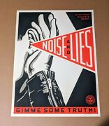 Shepard Fairey Noise And Lies White Cream Variant Rare Obey Giant Poster Prints