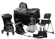 Baby Combo Stroller Travel System With Car Seat Infant Playpen Swing Chair Bag