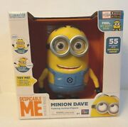 Despicable Me Minion Dave Interactive Talking Action Figure Thinkway Toys Nib