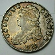 1825 Capped Bust Half Dollar 50c Full Liberty Rare Silver Coin Great Condition