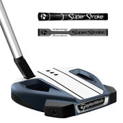 New Rh 2021 Taylormade Spider Ex Putter - 3 9 Sb - Navy Platinum White