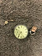 Antique Sterling Keywind English Pocket Watch 1790 To 1800 Not Running