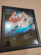 Steph Curry And Klay Thompson Autographed Warriors Splash Bros 20x24 Photo Framed