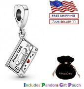 Authentic Pandora Sterling Silver S925 Ale Our Love Songs Mix Tape Dangle Charm