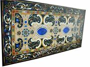Black Marble Dining Table Top Multi Stones Restaurant Table From Vintage Crafts