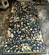 Marble Exclusive Lawn Table Top Multi Color Gemstones Elegant Art Dining Table