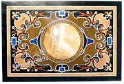 Vintage Art And Crafts Reception Table Top Marble Stone Work Dining Table Top