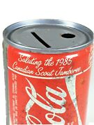 1985 Coca Cola Can Coin Bank - Canadian Boy Scout Jamboree Promo - Free Shipping
