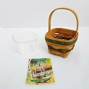 Longaberger Lots Of Luck Basket+protector+product Cardjan 1999 Only3rd Edition