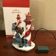 2013 Hallmark Holiday Lighthouse Christmas Ornament 2nd In Series Magic Cord Orn