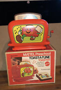 Vintage Mattel 1972 Wind Up Musical Toy Toaster Toast A Tune