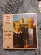 American Gothic Grant Wood Fine Art 1000 Pc Jigsaw Puzzle. New. Sealed. 29 X 20