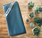 Norwex Stainless Steel Cloth Steel Blue With Light Grey Trim Free Shipping