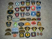 Huge Group Of 46 Ontario Law Enforcement Patches Police Security Officer Badge