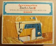 Singer Model 638 Touch And Sew Accessories 14 Special Zig Zag Discs Feet