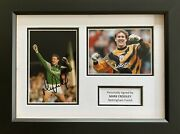 Mark Crossley Hand Signed Nottingham Forest Photo In A4 Frame Display