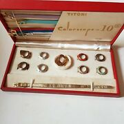 Vintage Titoni Colorscope 10 Swiss Colored Watch Straps And Different Faces