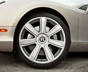 Bentley Continental Gt And Flying Spur Silver Wheel Hub Cap 21and039 7 Spoke Rim