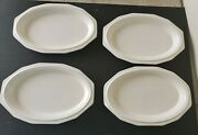 Lot Of 4 Early Pfaltzgraff Usa Heritage White 12 1/8 X 7 3/4 Oval Platter