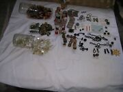 Lot Of Vintage Antique Modern Sewing Items Thread Buttons Buckles Pulls