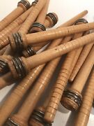 Quills Spools Wood Textile Spinning Bobbins Lot Of 50 Free Shipping