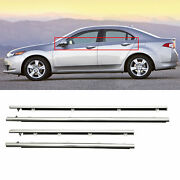 Window Moulding Trim Seal Belt Weatherstrip Fits For Acura Tsx 2009-2014 4pcs