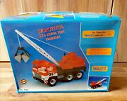 Vintage 1980and039s Greek Crane Toy Truck By Lyra Wader West Germany New In Box